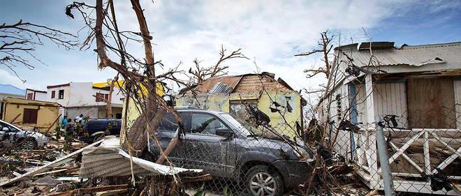 Saint-Martin, 7septembre. Au lendemain du passage d'Irma sur les Caraïbes, les dégâts sont considérables sur l'île franco-néerlandaise.