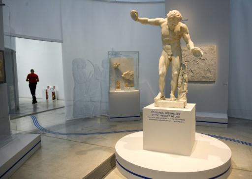 """Exposition """"La musique de l'Antiquité"""", au musée du Louvre-Lens (Pas-de-Calais), le 12 septembre 2017 © DENIS CHARLET AFP"""