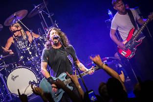 Les Foo Fighters sur scène le 14 septembre 2017, à Stockholm. Photo fournie par Sony Music.