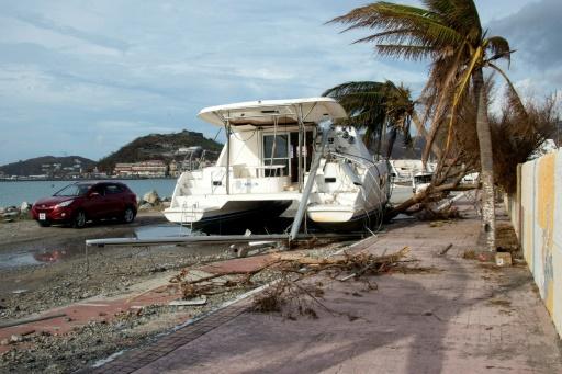 Les dégâts provoqués par le passage de l'ouragan Irma, le 14 septembre 2017 à Saint-Martin © Helene Valenzuela AFP