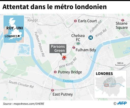 Attentat dans le métro londonien © Sabrina BLANCHARD AFP