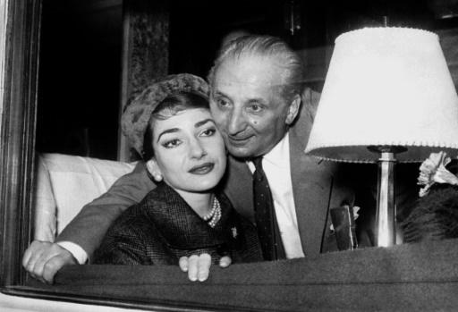 Maria Callas et son mari Giovanni Battista Meneghini ©  AFP/Archives