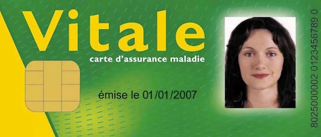 En France, la Carte vitale (ici un spécimen) garantit l'accès de chaque citoyen aux soins en cas de maladie grave.