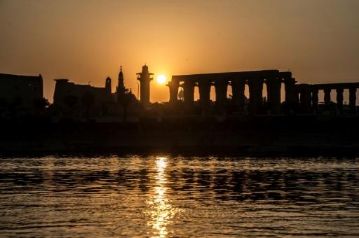 Coucher de soleil sur le temple de Louxor et le Nil, à Louxor le 10 septembre 2017 © KHALED DESOUKI AFP