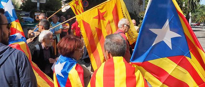 Les manifestations en faveur de l'indépendance de la Catalogne se multiplient depuis le printemps 2017.