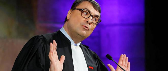 Le bâtonnier de Paris Frédéric Sicard lors d'un discours, le 25 novembre 2016.