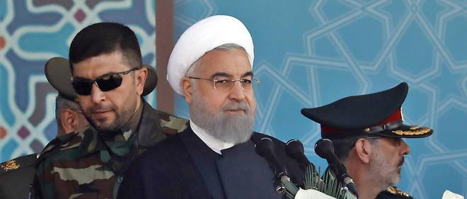 Le président iranien Hassan Rohani s'exprimait hier lors de la parade militaire annuelle.