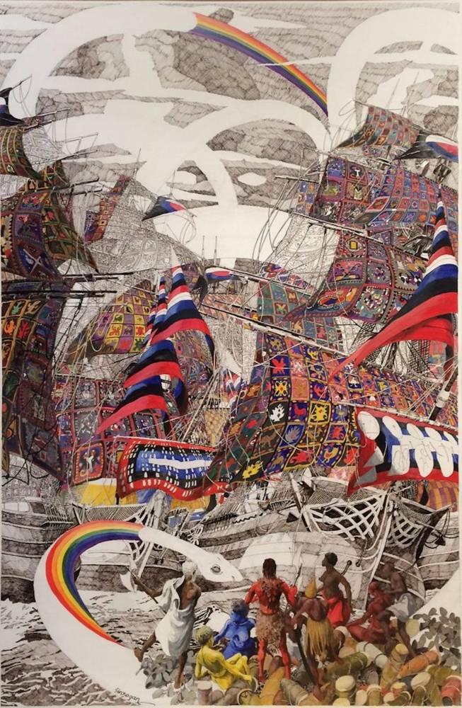 Julien Sinzogan, Vaudoo-Inside 2015.  ©  Courtesy October Gallery