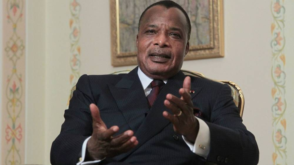 Le président congolais Denis Sassou Nguesso.  ©  AP Photo/Maxim Shipenkov, Pool
