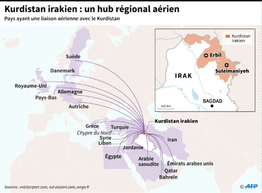 Le Kurdistan irakien : un hub régional aérien © Gillian HANDYSIDE AFP
