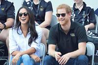 Le prince Harry avec sa petite amie, l'actrice américaine Meghan Markle, à Toronto.