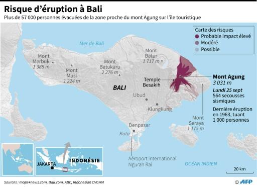 Carte Bali Volcan.Volcan A Bali Plan Pour Derouter Des Avions En Cas D