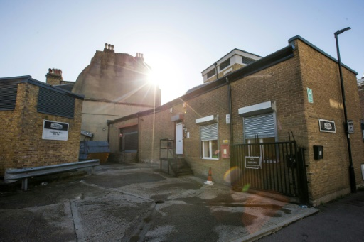 """Le site d'un abri anti-aérien transformé en potager dans le projet """"Growing Underground"""", à Clapham, dans le sud de Londres le 13 septembre 2017 © Daniel LEAL-OLIVAS AFP"""