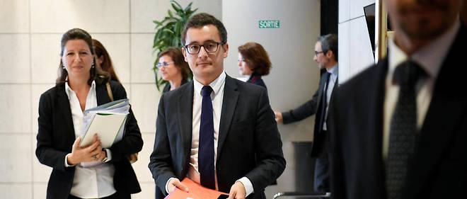 Agnès Buzyn et Gérald Darmanin, jeudi, à la présentation du projet de loi financement de la Sécurité sociale (PLFSS).