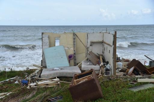 Maison détruite par l'ouragan Maria à Yabucoa, à l'est de Porto Rico, le 28 septembre 2017 © HECTOR RETAMAL AFP