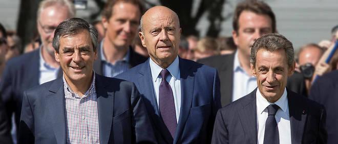 François Fillon, Alain Juppé et Nicolas Sarkozy, les trois principaux candidats à la primaire de la droite et du centre.