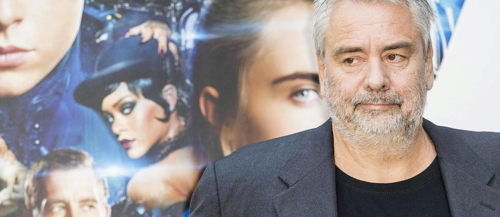 """Luc Besson lors de l'avant-première de """"Valérian"""" à Rome."""