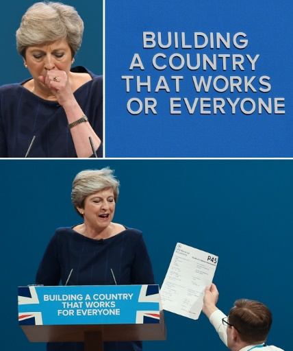 Theresa May, le 4 octobre 2017 à Manchester © Paul ELLIS, Oli SCARFF AFP