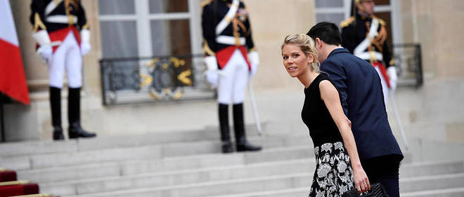 Tiphaine Auzière à l'Élysée, à l'occasion de l'investiture de son beau-père Emmanuel Macron.