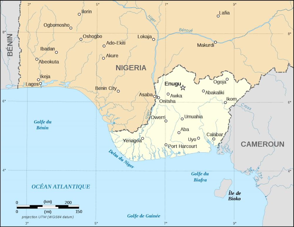 Carte du Nigeria.  ©  DR