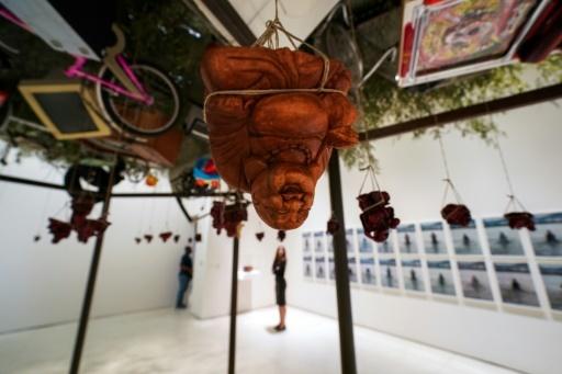 """Présentation de l'exposition """"Art and China after 1989: Theatre of the World"""" au musée Guggenheim de New York, le 5 octobre 2017 © Jewel SAMAD AFP"""