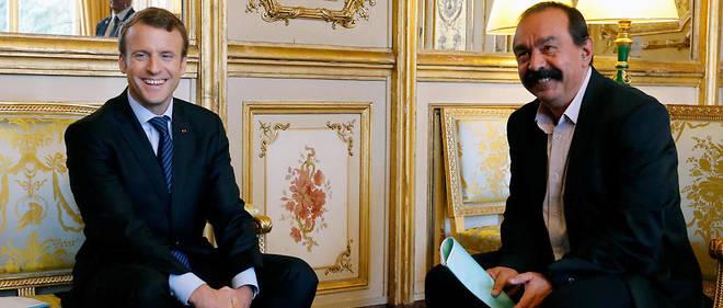 Emmanuel Macron a rencontré Philippe Martinez le 12 octobre pour les premières discussions sur la réforme des indemnisations du chômage et de la formation professionnelle.