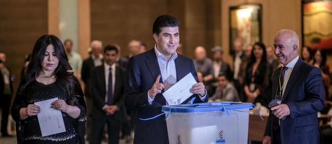 Le Premier ministre du gouvernement regional du Kurdistan, Nechirvan Barzani, le jour du referendum. (C)AHMED DEEB