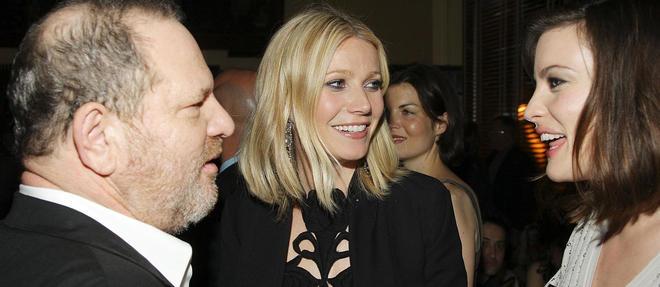 Harvey Weinstein avec Gwyneth Paltrow - qui fait partie des femmes ayant récemment dénoncé les agissements du producteur - et Liv Tyler, en avril 2008, à New York.