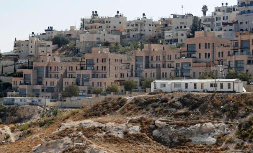 La colonie de Nof Zion, implantation israélienne au sein du quartier palestinien de Jabal Moukaber, à Jérusalem-Est, le 25 octobre 2017 © AHMAD GHARABLI AFP