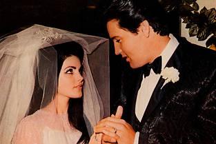 Le mariage d'Elvis et Priscilla Presley le 1er mai 1967 à Las Vegas. ©REX FEATURES/SIPA