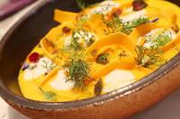 Jean-François Piège célèbre Halloween à travers une soupe de potimarron et une crème d'anguille.