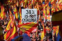 Dimanche, les organisateurs ont revendiqué 1,3 million de manifestants en faveur de l'unité espagnole.
