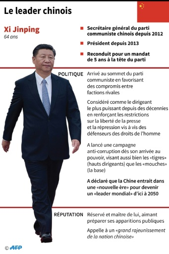 Le leader chinois © Gal ROMA AFP
