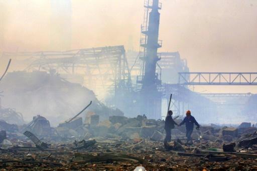 Les ruines de l'usine AZF, après l'explosion, le 30 septembre 2001, à Toulouse © ERIC CABANIS AFP/Archives