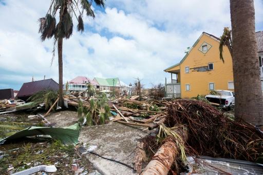 Une photographie prise le 7 septembre 2017, montrant les dégâts causés par Irma sur l'île de Saint-Martin © Lionel CHAMOISEAU AFP/Archives