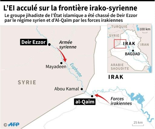 L'EI acculé sur la frontière irako-syrienne  © Kun TIAN AFP