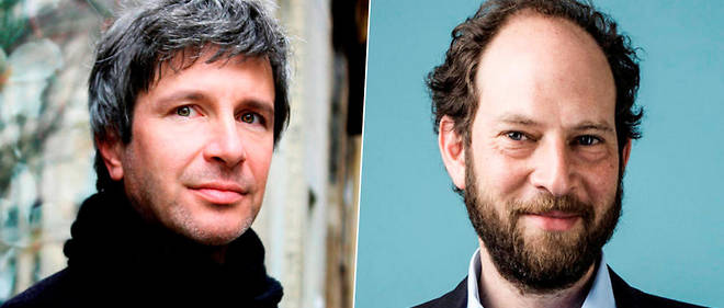 Eric Vuillard et Olivier Guez, lauréats du Goncourt et du Renaudot.