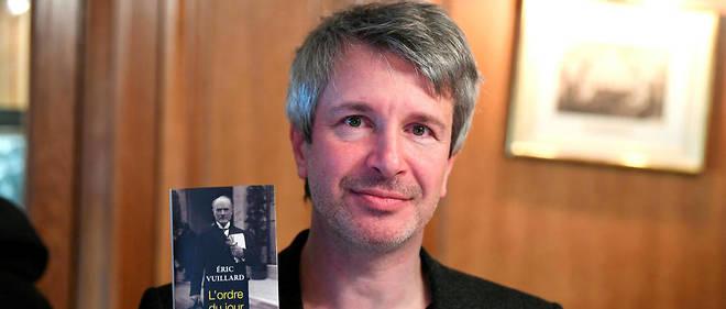 """Éric Vuillard a été récompensé par le prix Goncourt 2017 pour """"L'Ordre du jour""""."""
