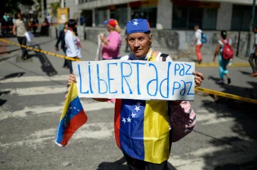 Lors d'une manifestation de l'opposition vénézuélienne à Caracas, le 4 juillet 2017 © Federico PARRA AFP/Archives