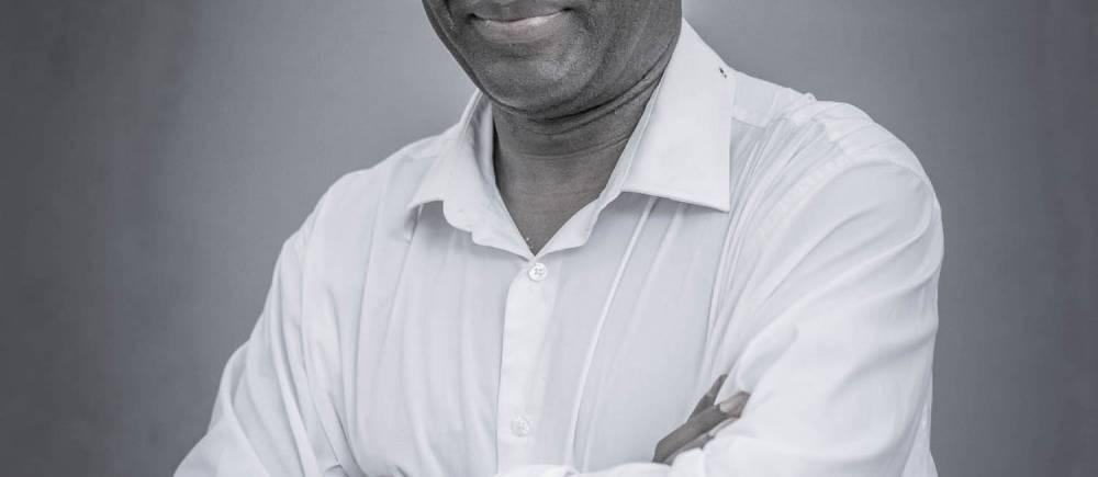 Achille Mbembe, philosophe camerounais, co-fondateur des Ateliers de la pensée. Photo prise lors de la dernière édition 2016.  ©  Antoine Tempé
