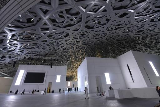 Vue générale du musée du Louvre Abu Dhabi inauguré le novembre 2017 © Giuseppe CACACE AFP