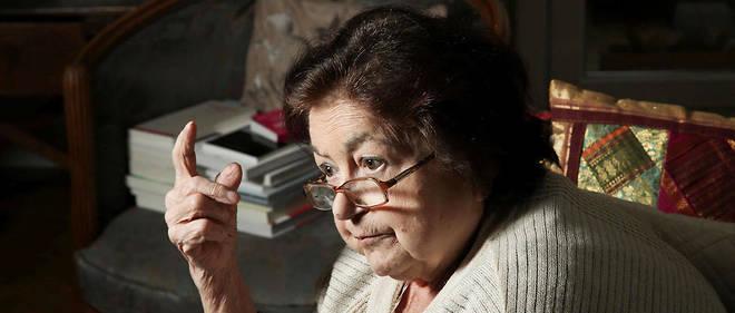 Françoise Héritier chez elle le 19 avril 2013.