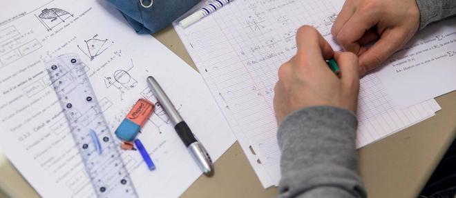 La recette des CPGE : la sélection des meilleurs élèves,30 à 40 heures de cours par semaine, 20 devoirs écrits sur l'année, et de nombreuses interrogations orales. ©Simon LAMBERT/HAYTHAM-REA