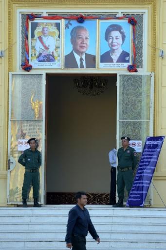 L'entrée de la cour suprême cambodgienne, le 16 novembre 2017 à Phnom Penh © TANG CHHIN SOTHY AFP