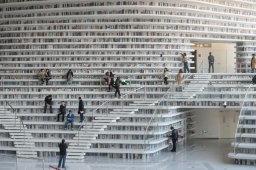 La Chine construit nombre d'installations culturelles pour un coût très èlevé qui s'avèrent ensuite souvent sous-expoitées © FRED DUFOUR AFP