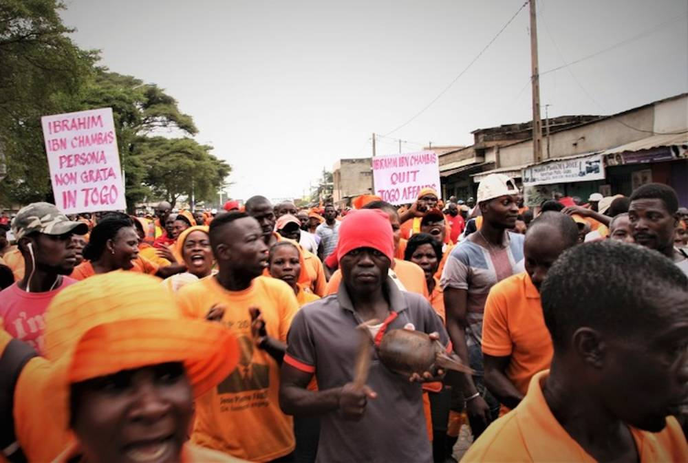 Des sympathisants de l'opposition manifestent à Lomé pour exiger des réformes constitutionelles, le 4 octobre 2017.  ©  AFP