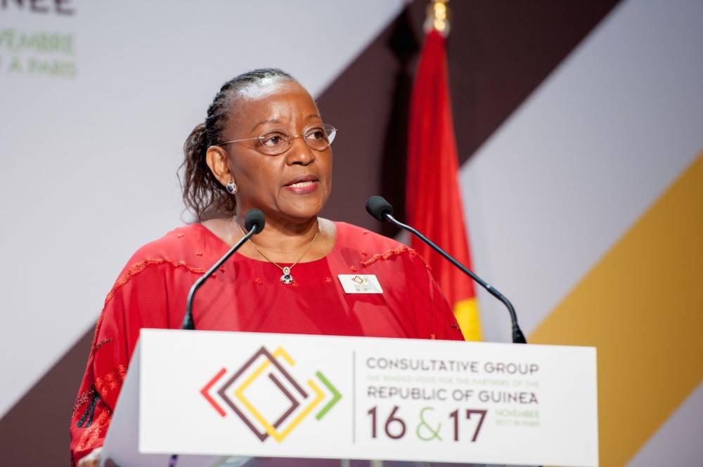 Kanny Diallo, la ministre guinéenne du Plan et de la Coopération internationale de la Guinée.  ©  Sébastien Gracco de Lay