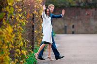 Le jeune couple après l'annonce officielle de leurs fiancailles le 27 novembre.