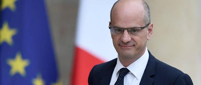 Le ministre de l'Éducation nationale, Jean-Michel Blanquer, devant l'Élysée en mai 2017.