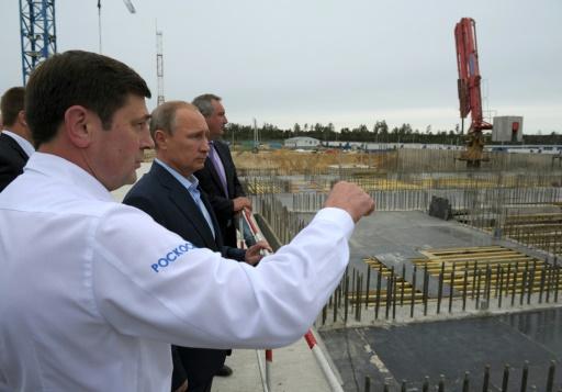 Le président russe Vladimir Poutine visite le cosmodrome de Vostochny, le 2 septembre 2014 © ALEXEI DRUZHININ RIA NOVOSTI/AFP/Archives